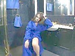 Hairy Teen in the Bathroom