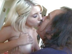 Tessa Taylor blowing the cock of Ron Jeremy