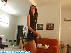 Lapdance by 18yo shy czech chick
