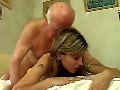 Teen girl show respect for Old Man 8
