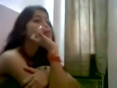 INDIAN - Cute Teen with Bf in Hostel - hotcamgirls