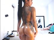Ultra Sexy Pierced & Inked Latina Showing Off On Cam