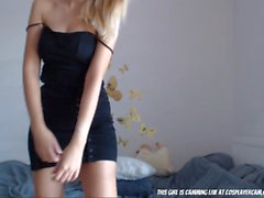 Lovely Blonde Teen Dancing To Get Your Dick Hard....