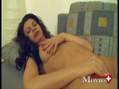 Mastrubation Porn-Movie with Swiss-Model Moni