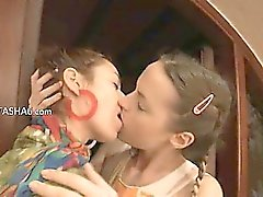 Two russian babes toying holes