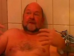 Sex in the bathroom cut 1(#old man, #grandpa,#dad)