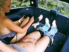 Big boobs blondie teen Jessie Sinclair screwed up in the car
