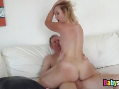 Blonde Teen Samantha Rone Banged Hard On Sofa By Lucky Dude