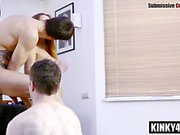 Russian submissive femdom humiliation and cumshot