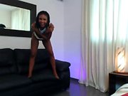 Very Hot Amateur Ebony Teen Couple fucking on Webcam