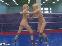 Antonya vs sophie lesbian wrestling