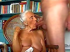 Old grandma eating my cock. Amateur older