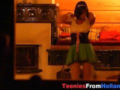 Dutch teens juggs spunked
