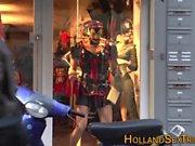 Dutch whores mouth cummed