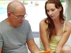 Czech Chelsea Sun is seducing a grandpa