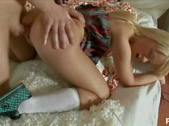 Young Schoolgirl Gets Her Ass Pounded