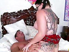 He likes Big tits schoolgirl