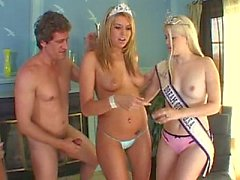 Two Miss USA get their butts fucked by 4 guys!