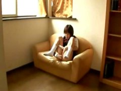 Japanese Schoolgirl Masturbates with Vibrator - Bjork