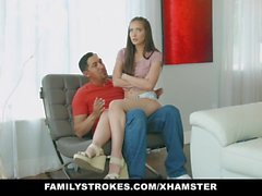 FamilyStrokes - Stepdaughter with Big Ass Seduces Dad