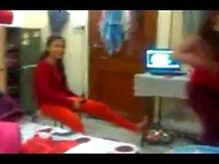 Desi College girls in hostel Naughty dance