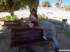 Ava Dalush Fucks On A Public Bench (HUUU)