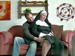 German Teen Boy seduce Granny Nun