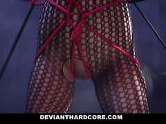 DeviantHardcore - Submissive Teen Gags On Huge Cock