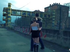 CHICAS LOCA - Wild outdoor public sex with Spanish hottie Mey Madness