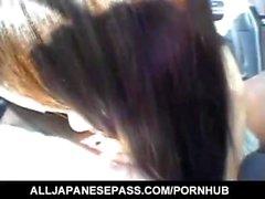 Aya Matsuki gets cum on pubic hair from sucked boner after fuck