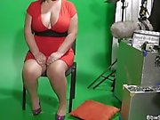 Busty plumper in nylons rides cheating dick