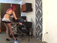 Santa Latina - Naughty teen Latina maid gets banged by boss