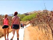 Two chicks go hiking & get freaky