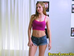 Teen strips at audition