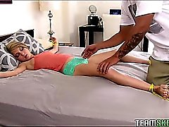 Tied Up Tiny Teen Is A Freak For Big Cocks