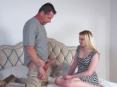 Seducing a stepdad feels so good