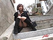 Ai Haneda Naughty Asian teen has public