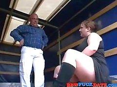 Curvy BBW Teen Pleasuring Old Man
