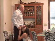 DADDY4K. Dirty girl experiences fantastic sex on sofa with..