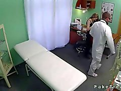 Hot amateur fucked by her doctor in a hospital