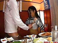 Blowjob In A Restaurant