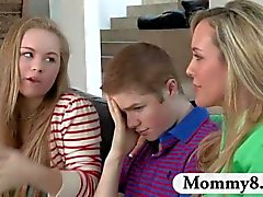 Mature MILF Brandi Love teaches young boy new things