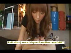 Nao Yoshizaki sexy Chinese model spreads her legs to show pussy