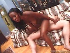 Interracial anal sex with a white cock in her black ass