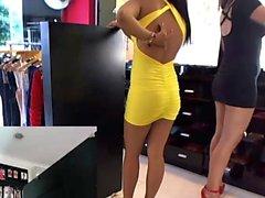 CFNM amateur girls watch guy jerk off in public