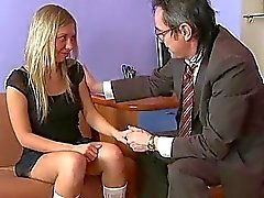 Chick is teachers cock with zealous blowjob
