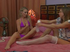 Innocent teen and her mature friend