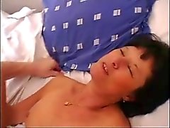 Hairy granny goes anal