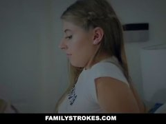 FamilyStrokes - Cuddling and Fucking Scared Stepdaughter While Wife Sleeps