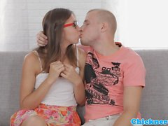 Euro spex student fucked cowgirl style